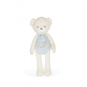 DOLL MUSICAL BEAR BLUE - MEDIUM