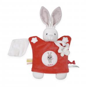 Doudou Marionnette Lapinou Rouge 20 cm