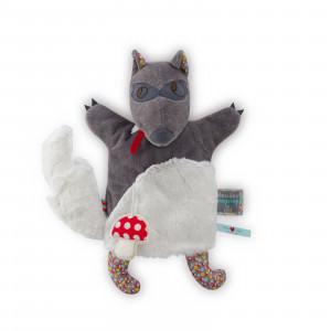 Woof Loup Doudou Marionnette 20 cm