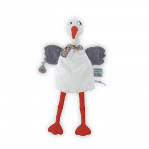 Dandy Cigogne Doudou Marionnette 20 cm