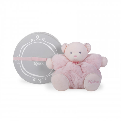 Peluche Patapouf Ours Rose 30 cm
