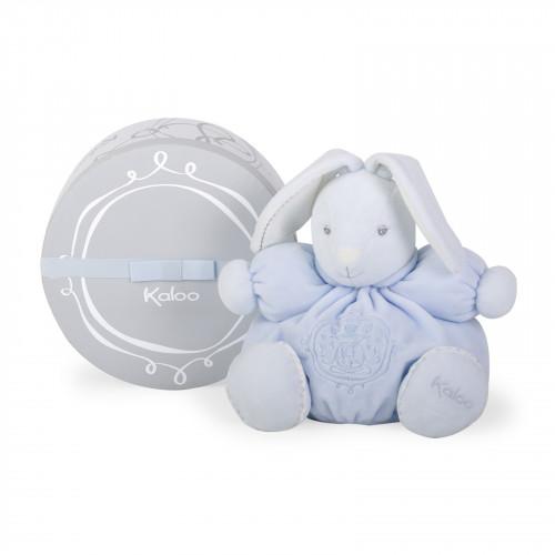 Peluche Patapouf Lapin Bleu 25 cm