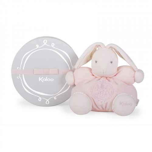 Peluche Patapouf Lapin Rose 25 cm