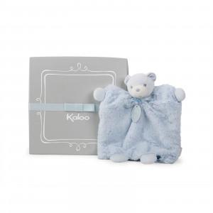 Ours Doudou Marionnette Bleu 20 cm
